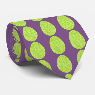 Patterned Spring Green Easter Eggs Neck Tie