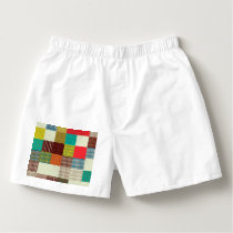 Patterned squares boxers