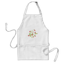 Patterned Strawberries Adult Apron