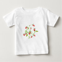 Patterned Strawberries Baby T-Shirt