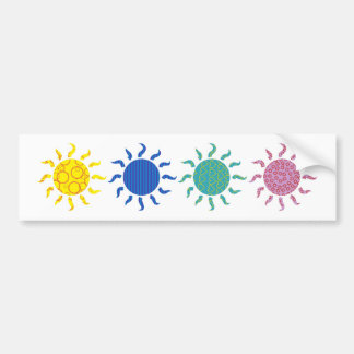 Patterned Suns Bumper Stickers