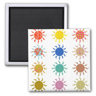 Patterned Suns Refrigerator Magnets