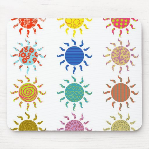 Patterned Suns Mouse Pad
