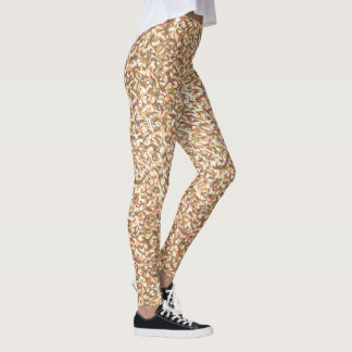 Patterned taupe, rust, gold yoga leggings