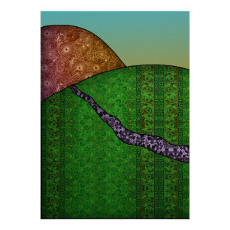 Patterned Triptych Left Poster