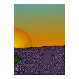 Patterned Triptych Right Poster