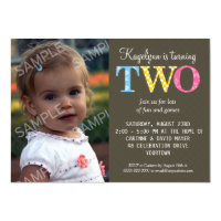 2 Year Old Invitations Announcements Zazzle