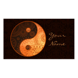 Patterned Yin Yang Gold Double-Sided Standard Business Cards (Pack Of 100)