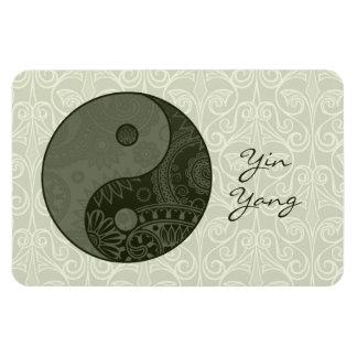 Patterned Yin Yang Sage Green Rectangular Photo Magnet