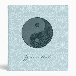 Patterned Yin Yang Slate Blue Binder