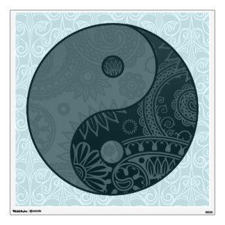 Patterned Yin Yang Slate Blue Wall Sticker