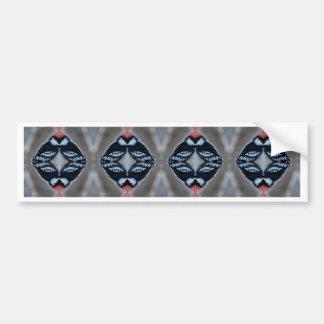 Patternized Male Downy Woodpecker Bumper Sticker