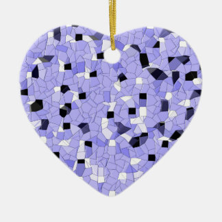 Patterns- Blues Ceramic Ornament