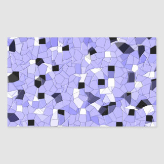Patterns- Blues Rectangular Sticker