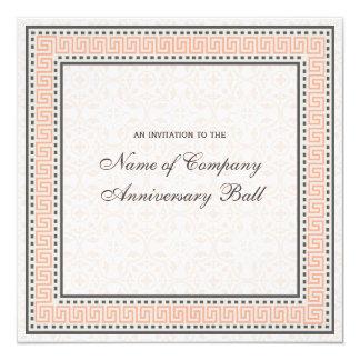 """Patterns & Borders 1 Corporate Anniversary Ball 5.25"""" Square Invitation Card"""