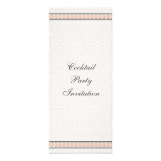 "Patterns & Borders 1 Corporate Cocktail Invitation 4"" X 9.25"" Invitation Card"
