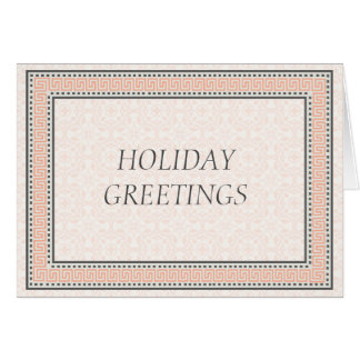 Patterns & Borders 1 Corporate Holiday Greetings Card