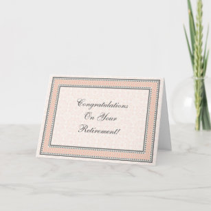 Retirement wishes thank you cards zazzle patterns borders 1 retirement greeting card m4hsunfo
