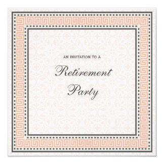 """Patterns & Borders 1 - Retirement Party Invitation 5.25"""" Square Invitation Card"""
