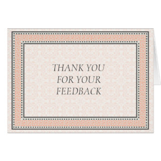 Patterns & Borders 1 Thank You For Your Feedback Card