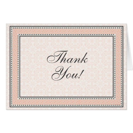patterns borders 1 thank you note card zazzle com
