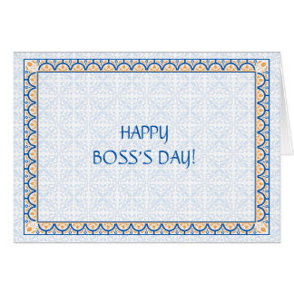Patterns Borders 2 Boss s Day Card