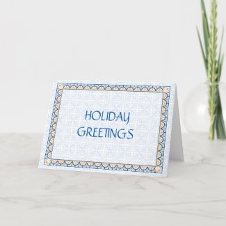 Patterns & Borders 2 Corporate Holiday Greeting card