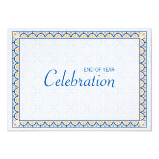 "Patterns & Borders 2 - Corporate Party Invitation 5"" X 7"" Invitation Card"