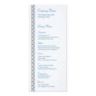 Patterns & Borders 2 Dinner Menu Card