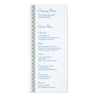 """Patterns & Borders 2 Dinner Menu 4"""" X 9.25"""" Invitation Card"""