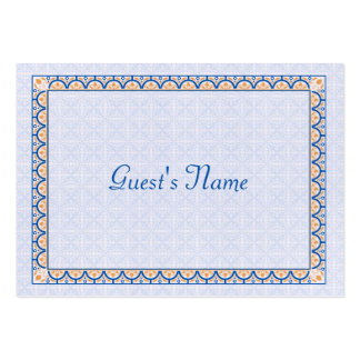 Patterns & Borders 2 Dinner Place Card Business Card Template
