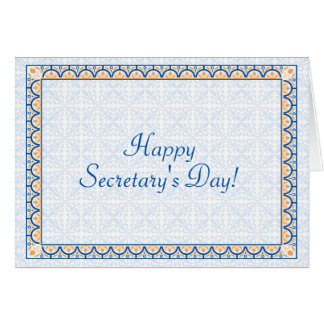 Patterns & Borders 2 Happy Secretary's Day Card