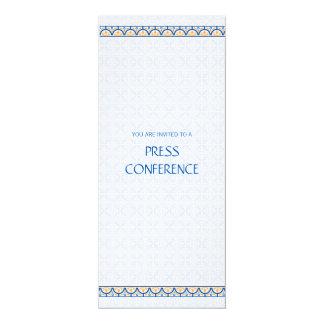 """Patterns & Borders 2 Press Conference Invitation 4"""" X 9.25"""" Invitation Card"""