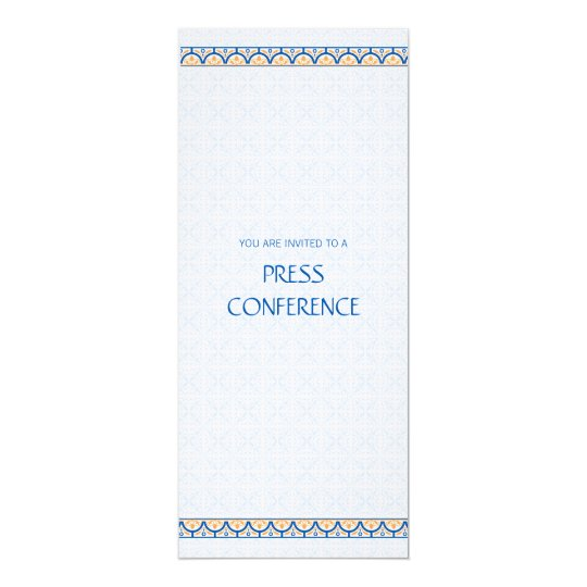 Patterns & Borders 2 Press Conference Invitation