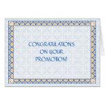 Patterns & Borders 2 Promotion Congratulation Card
