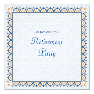 Patterns & Borders 2 Retirement Party Invitation