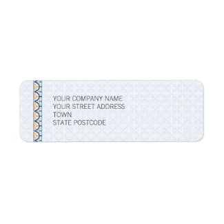 Patterns & Borders 2 Return Address Label label