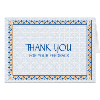 Patterns & Borders 2 Thank You For Your Feedback Card