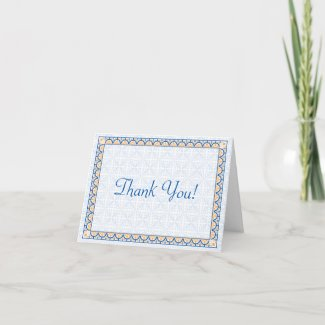 Patterns & Borders 2 Thank You Note Card card