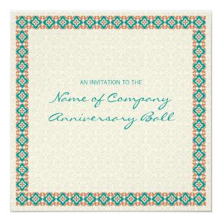 Patterns & Borders 3 Corporate Anniversary Ball Invitation