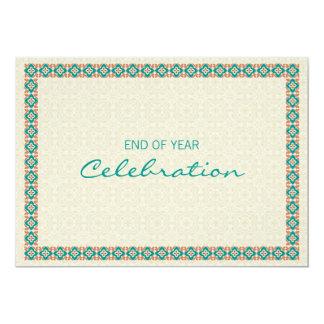 "Patterns & Borders 3 - Corporate Party Invitation 5"" X 7"" Invitation Card"