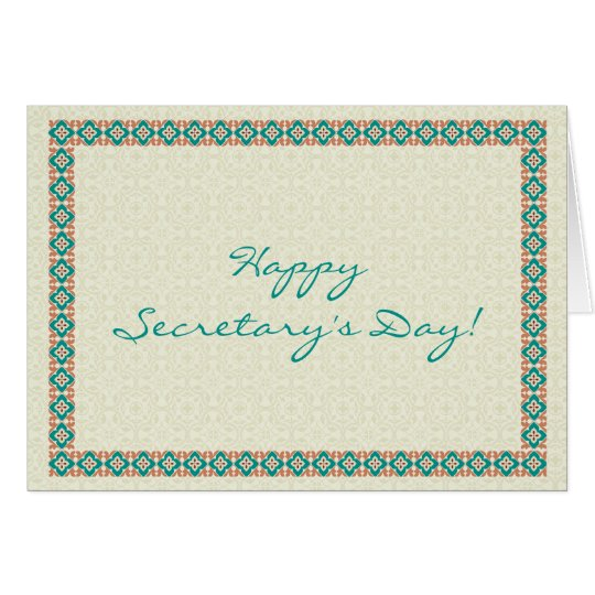 Patterns & Borders 3 Happy Secretary's Day Card