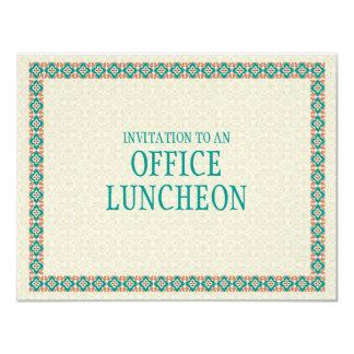 "Patterns & Borders 3 Office Lunch Invitation 4.25"" X 5.5"" Invitation Card"