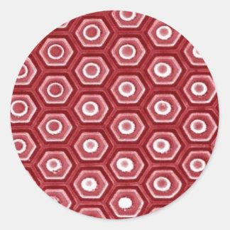 patterns classic round sticker