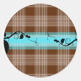 patterns design classic round sticker