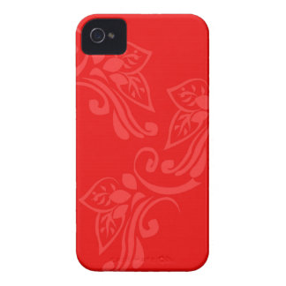 patterns_design_red_flowers_leaves_green_gold Case-Mate iPhone 4 case