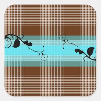 patterns design square sticker