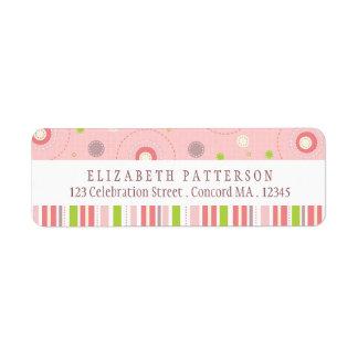 Patterns of Fun in Pink Return Address Label