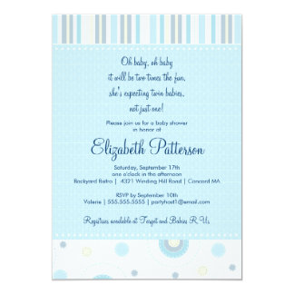 twin boys baby shower invitations  announcements  zazzle, Baby shower invitations