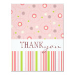 Patterns of Fun Twin Girl Baby Shower Thank You Card